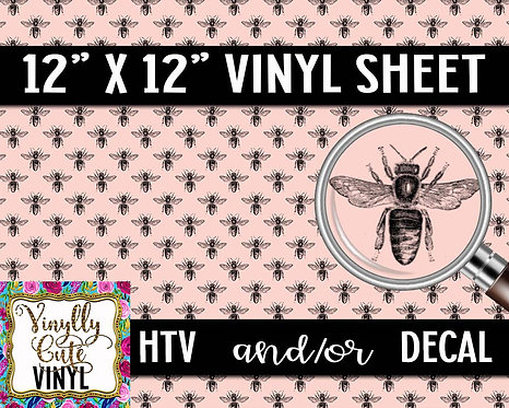 Bee Pink Vinyl ~ HTV or ADHESIVE DECAL