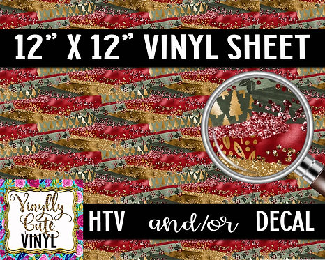 Christmas Camo ~ HTV or ADHESIVE DECAL