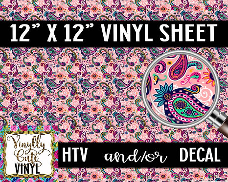 Classic Paisley ~ HTV or ADHESIVE DECAL