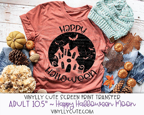 "Happy Halloween Moon ~ ADULT 10.5"""