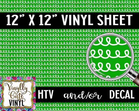 Green Loops Vinyl ~ HTV or ADHESIVE DECAL