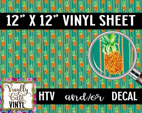 Toasted Pineapple ~ HTV or ADHESIVE DECAL