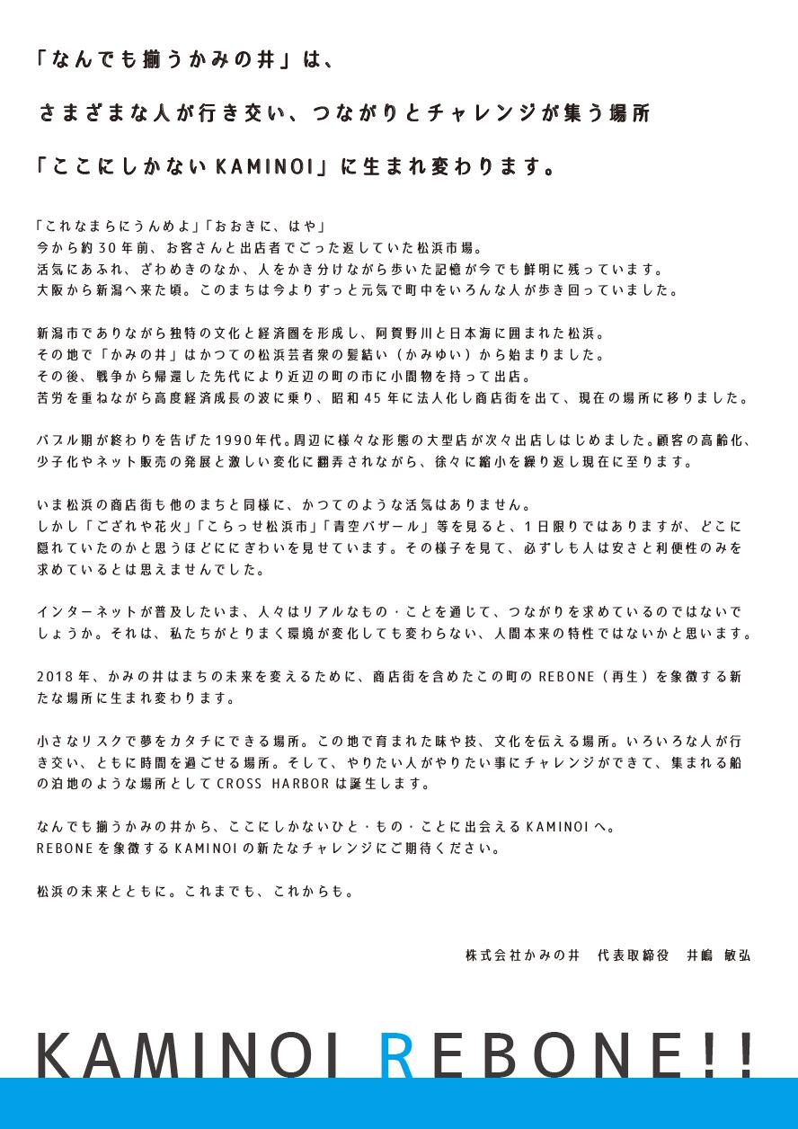 KAMINOI REBONE_コンセプト