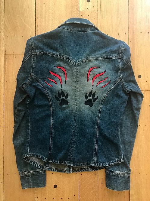 Cat Scratch Denim Shirt