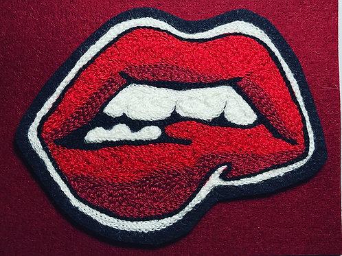 Biting my lip patch