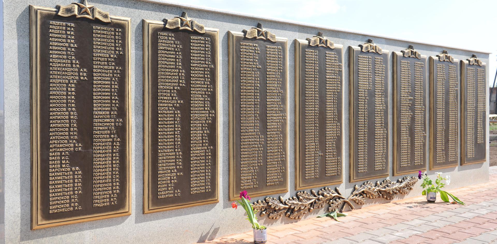 Фрагмент памятника ВОВ