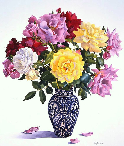 Roses in a Moroccan Vase