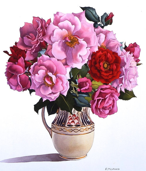 Roses in an Antique Jug