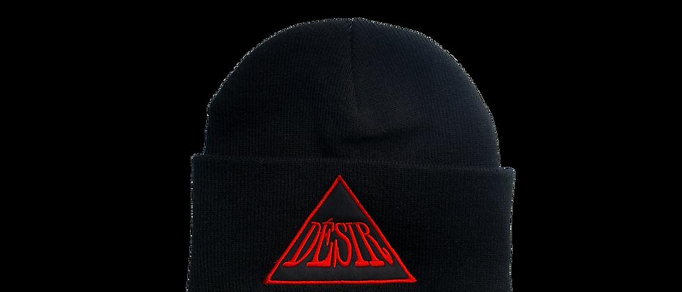 "Red ""Triangle Logo"" beanie"