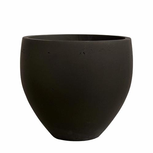 Black Cement Pot