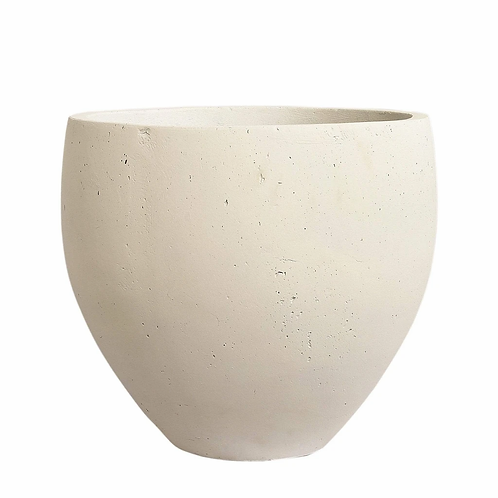 White Washed Cement Pot