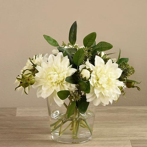 Dahlia Arrangement in Glass Vase