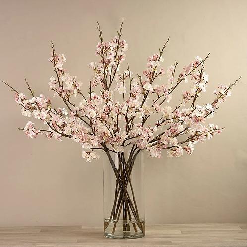 Blossom Spray in Glass Vase