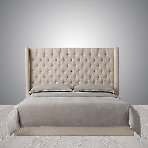 Headboard | London Shelter Diamond Tufted Fabric Bed