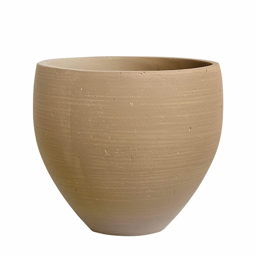 Taupe Cement Pot