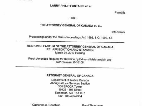 Response Factum of the Attorney General of Canada