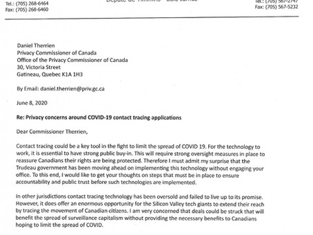 Privacy concerns around COVID-19 contact tracing applications