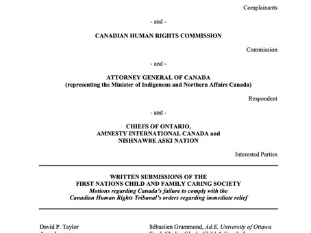 First Nations Caring Society Factum