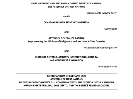 Factum of the Assembly of First Nations