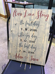 custom wood sign special dates