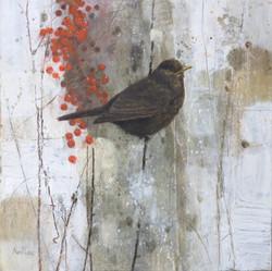Winter Landscape - Blackbird