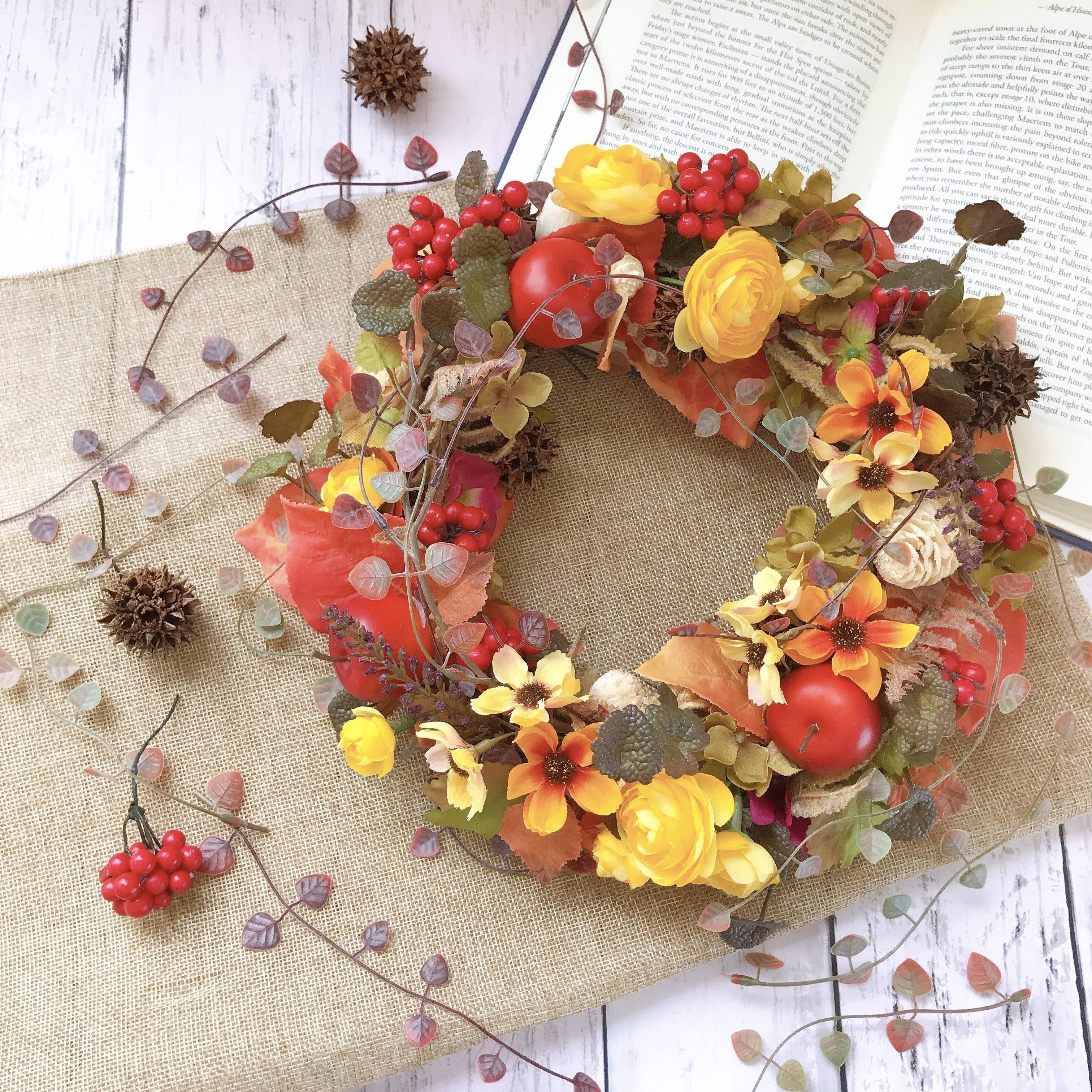 秋の実りのリース