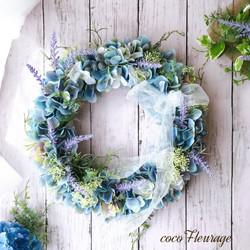 紫陽花リース「不思議の国のアリス」