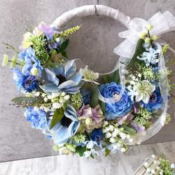 ブルーが似合う花嫁様へ♡リースブーケ
