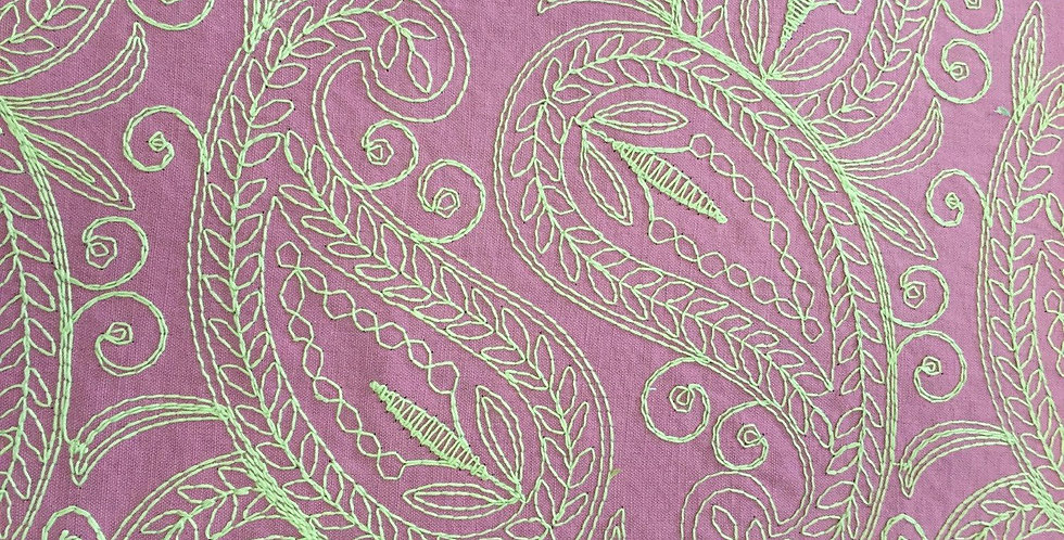Lilac Embroidered Paisley - Purple