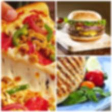 pizza-cburger-chicken Collage.