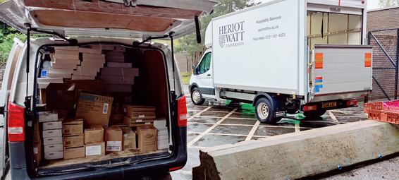 Heriot Watt thank you for the donation