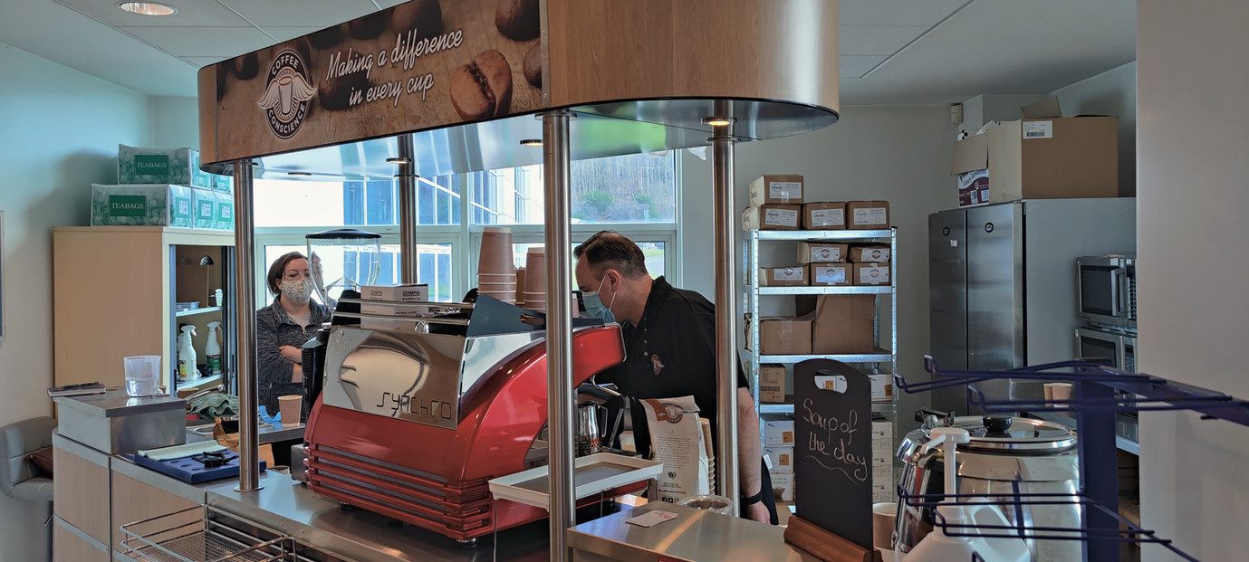 Coffee Cart at Eurocentral