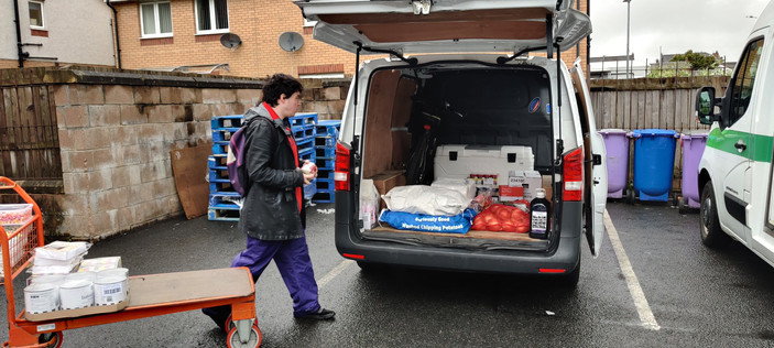 Packing the van ay Booker