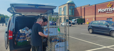 James sorting the van out