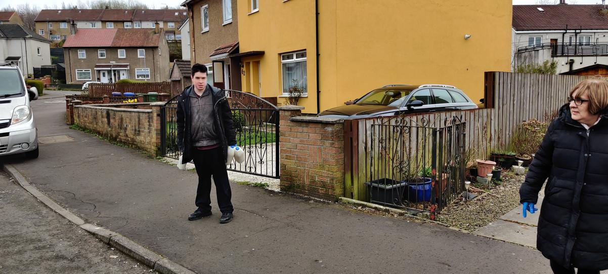 Angela and Jamie Deliverin milk to doorsteps in Crookston