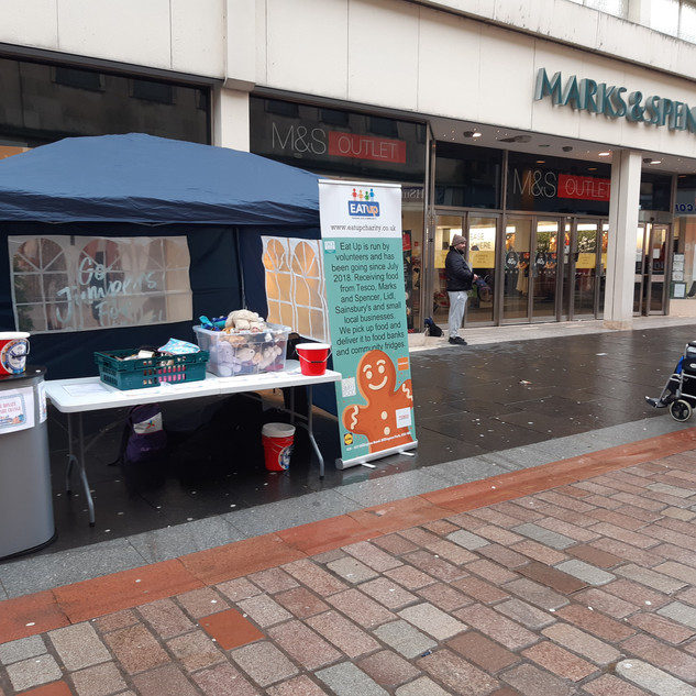 Ourside Marks and Spencer Fundraising