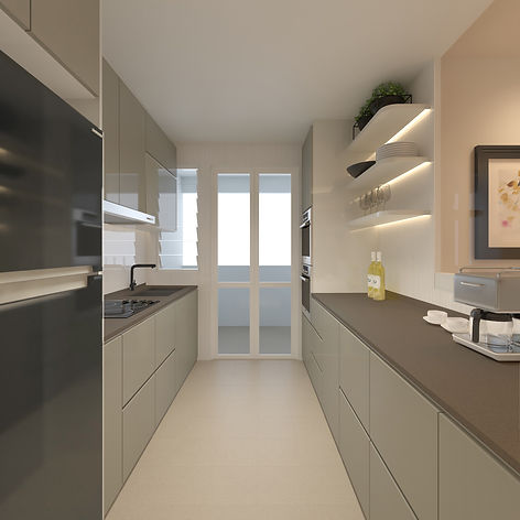 HDB BTO 4 Rm - Kitchen