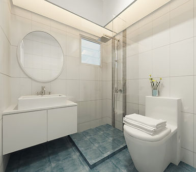 HDB BTO 4 Rm - Common Bathroom