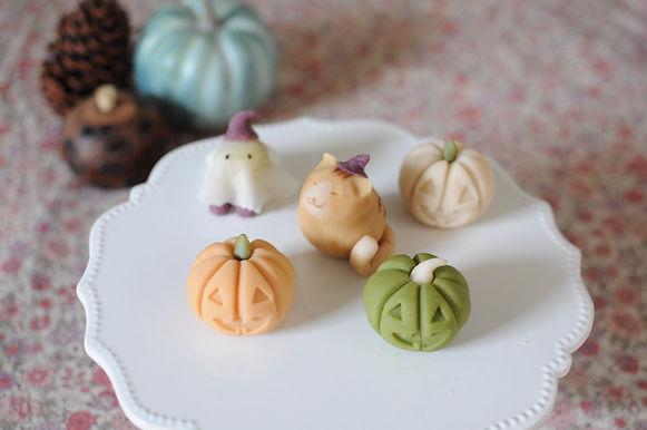 和菓子でハロウィン