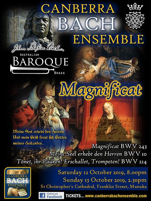 Canberra Bach Ensemble: Magnificat BWV 243, 10, 214