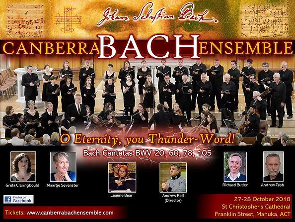 Canberra Bach Ensemble 'O Eternity, you Thunder-Word' BWV 20, 60, 78, 105