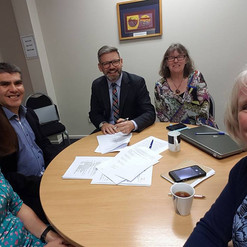A fantastic day - signing our Trust deed with Ian Lees-Galloway supporting us as a witness