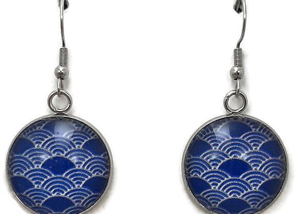 Boucles d'Oreilles- motif japonais