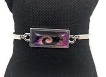 Bracelet Cabochon Spirale Violet
