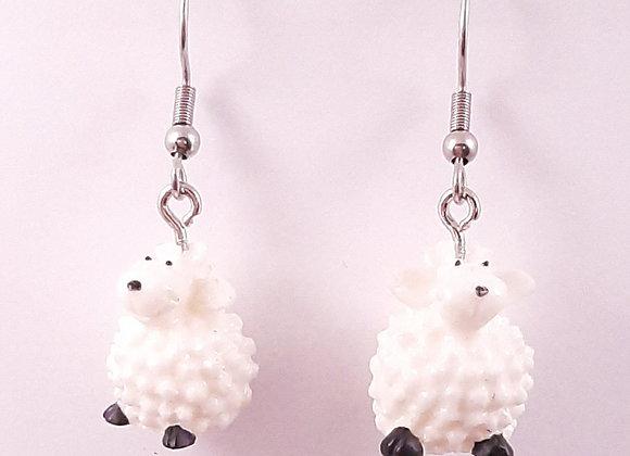 Boucles d'Oreilles- Moutons