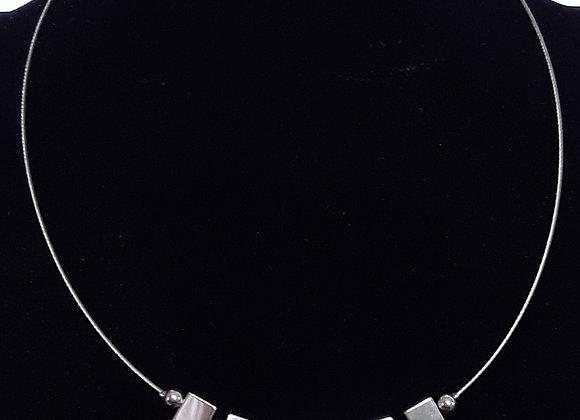 Collier Perles Semi-précieuses Hématites Carrées