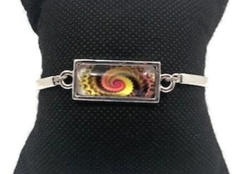 Bracelet Cabochon SpiraleJaune