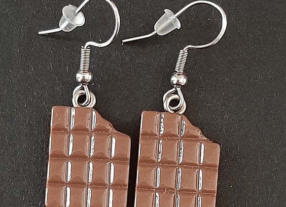 Boucles d'Oreilles- Chocolat