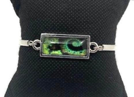 Bracelet Cabochon Spirale Vert