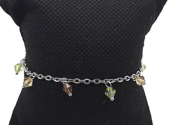 Bracelet Perles Marron/Jaune